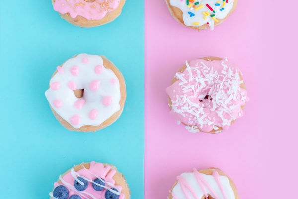 Colors in doughnuts